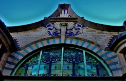 This is the frontage of the Royal Arcade, Norwich
