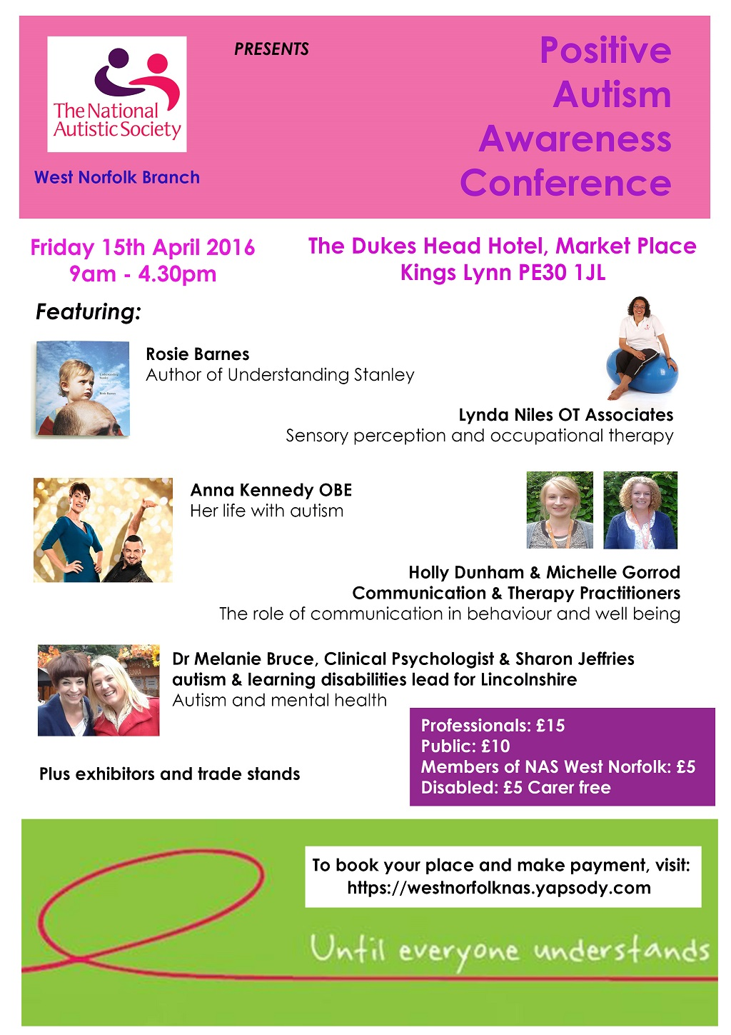 Positive Autism Awareness Conference Now Open For Bookings