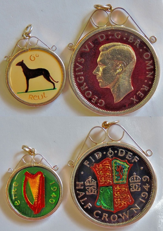 These last two lots (three images each) are ex-coins that have been turned into jewellery.