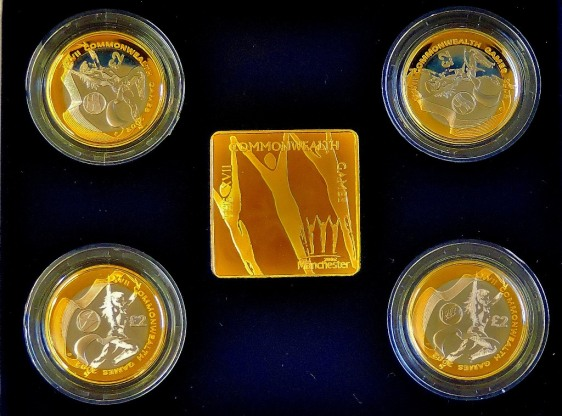 This image showing the coins and ingot in their natural alignment looked good