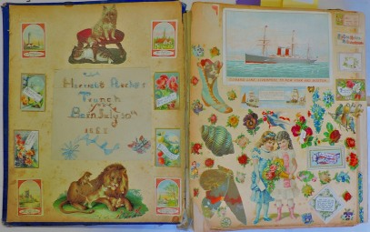 This scrapbook is lot 714 - it has some Norfolk interest because the girl who assembled it back in the Victorian age lived in Trunch.