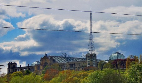 Ally Pally through the train window.