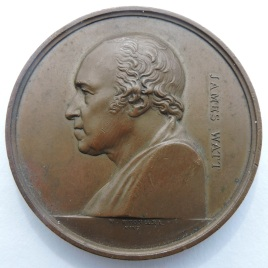 These last few pics are not work pics - they are the best images I have managed to get of the James Watt medallion I bought recently.