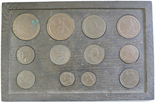 These look like old coins but they are actually well disguised cigarette cards based on those coins.