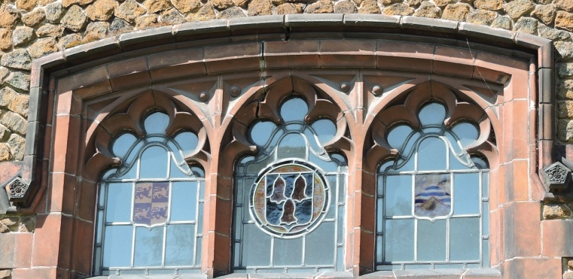 These windows are a feature of the building in which I am posting this - King's Lynn Public Library
