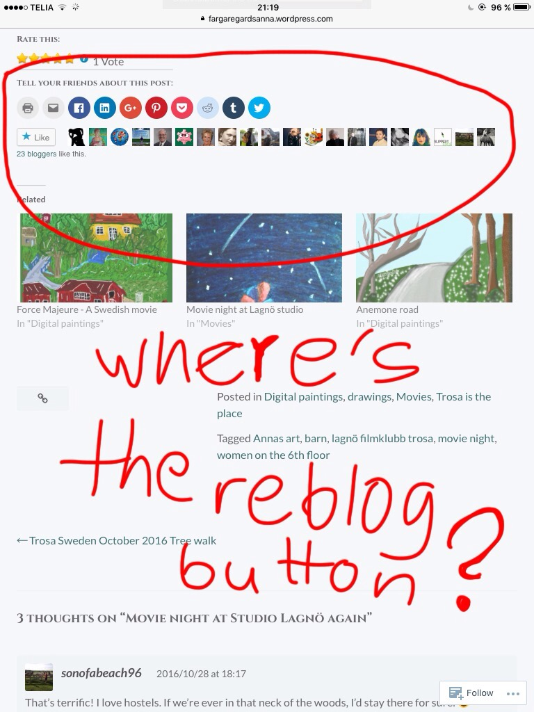 Hey! Where did the reblog button go?