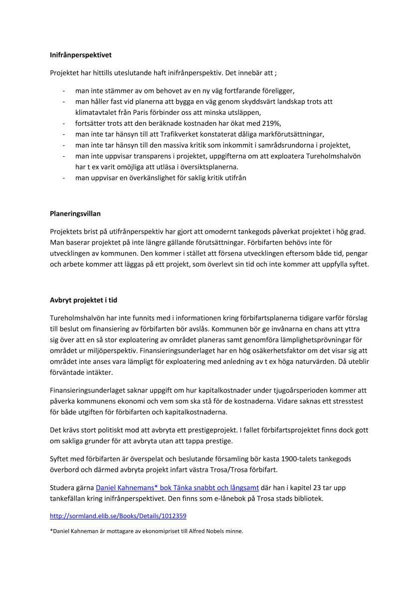 synpunkter till kommunstyrelsen sid 3