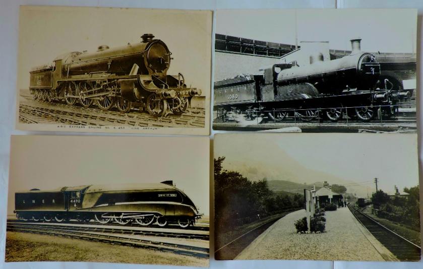 Railway cards B+W