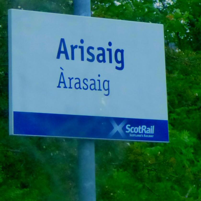 Arisaig sign