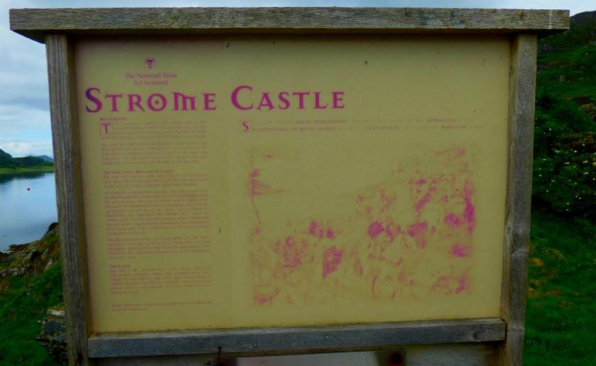 castle info board