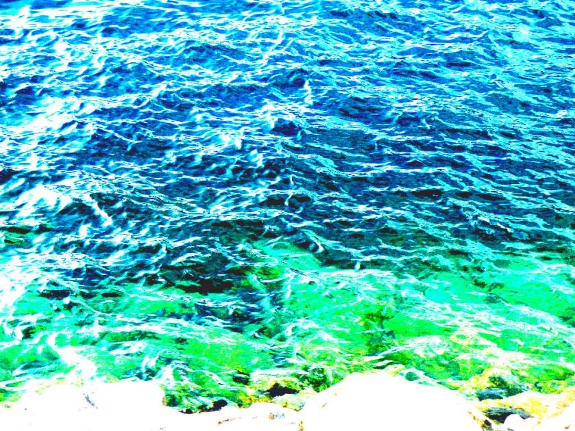 Clear loch water