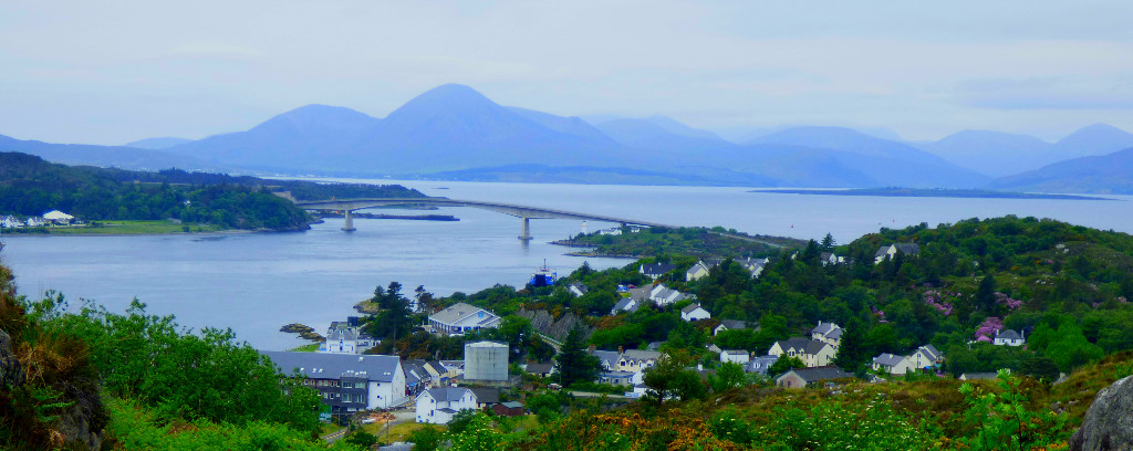 Kyle of Lochalsh from above