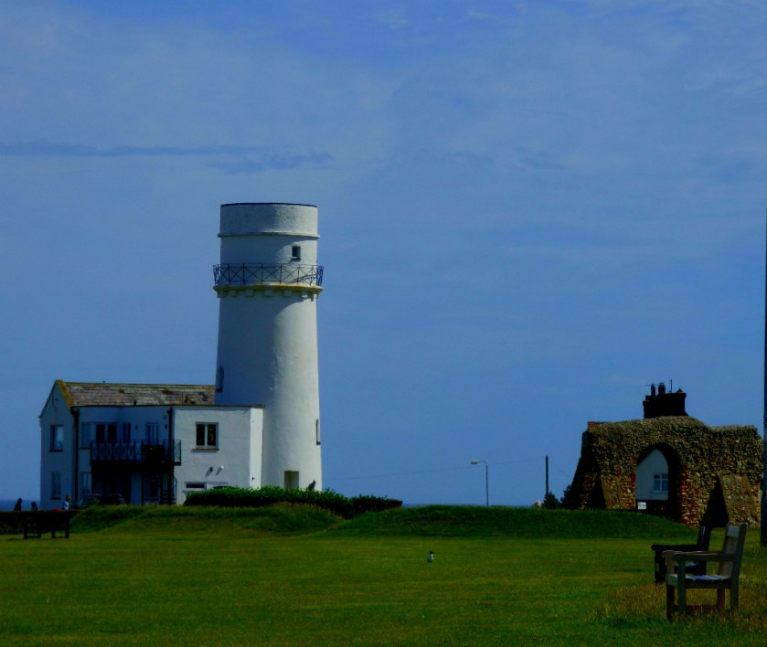 Lighthouse and ruined church
