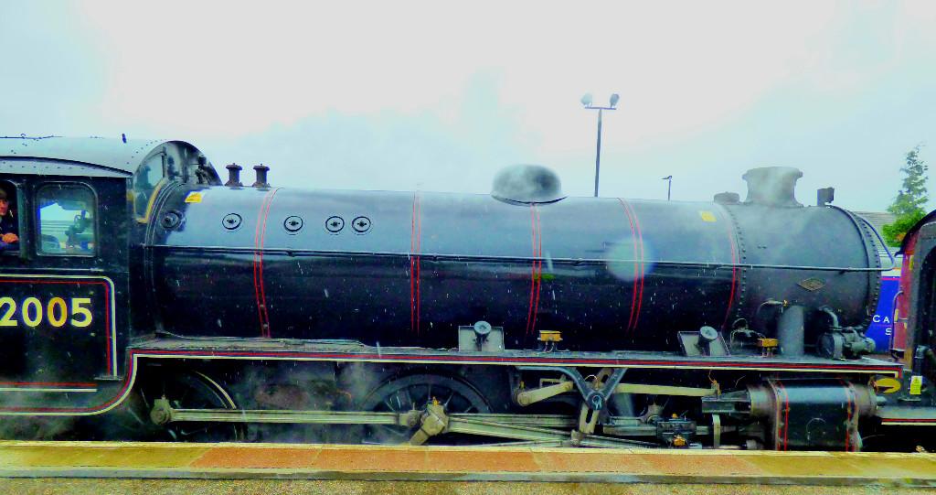 Loco at rear of train