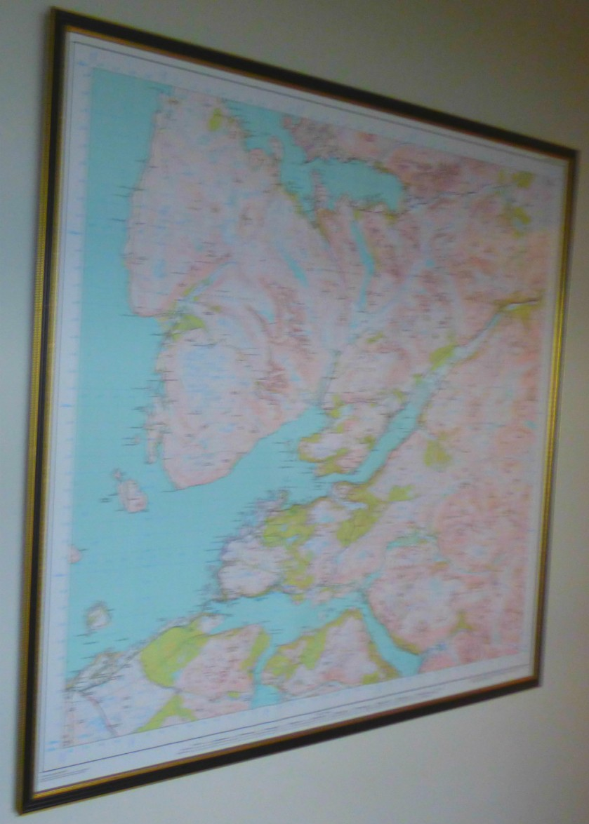 Map, Ferry Cottage