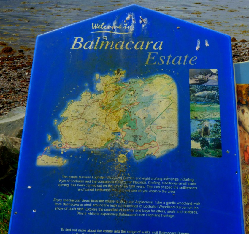 Reraig info board - Balmacara Estate