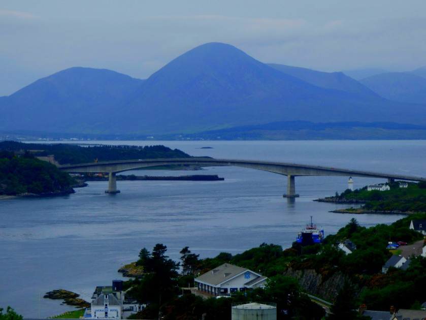Skye Bridge from above