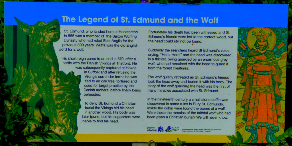 St Edmund and the Wolf