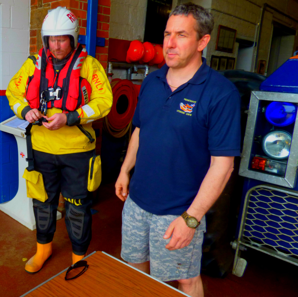 The helmet and lifejacket complete the outfitting