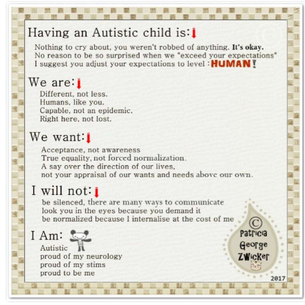 Autistic chiuld infographic