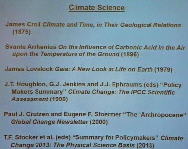 Note the second book on this list - the first ever to acknowledge the possibility of anthropogenic global warming.