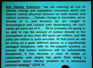 Robinson on climate change