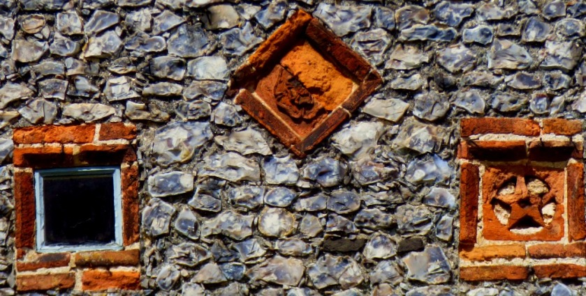 Brick and flint