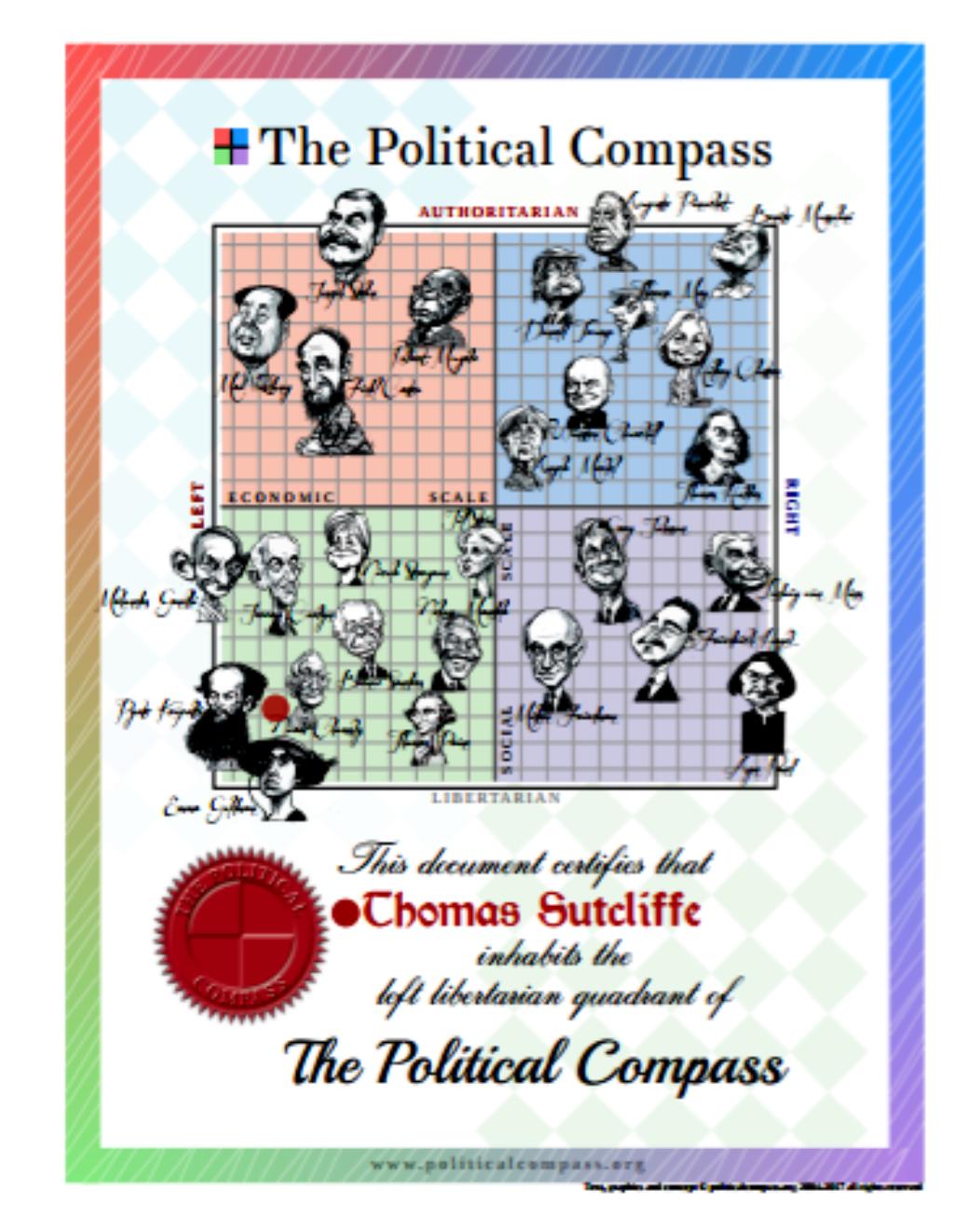 Political Compass Certificate