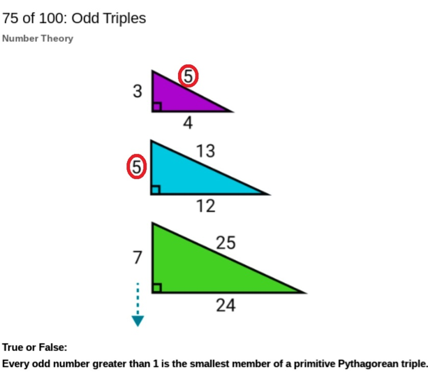Pythagorean Triples Solution - a