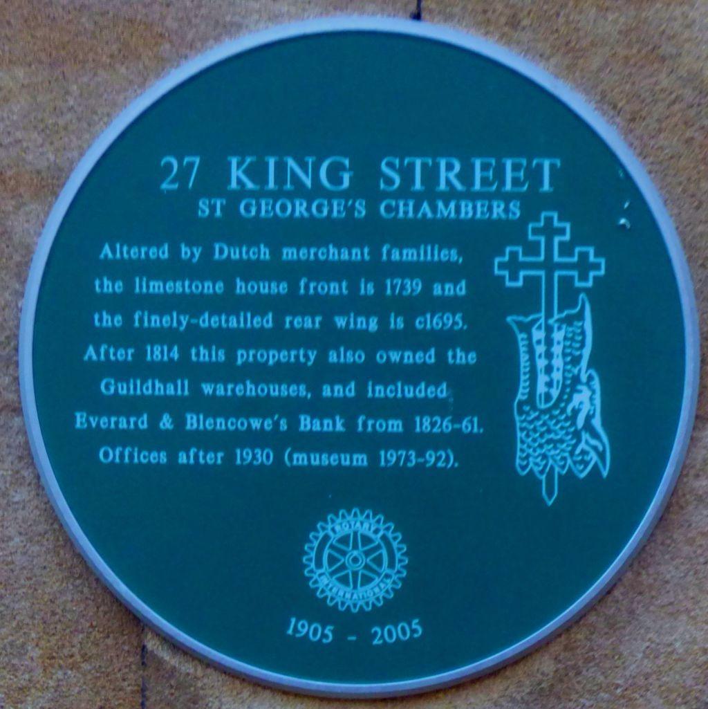 27 King Street - plaque