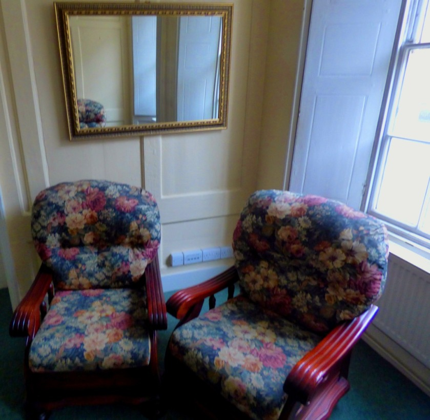 chairs and mirror