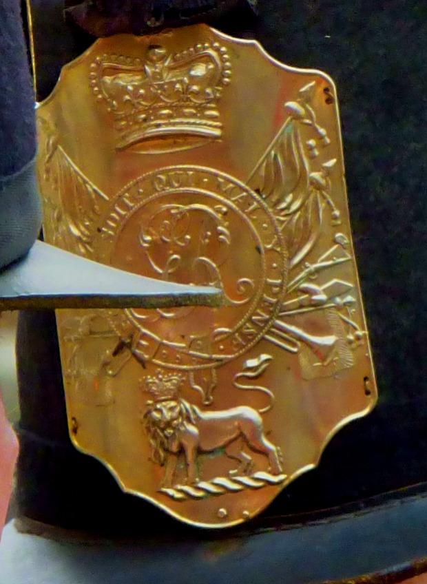 Helmet plate