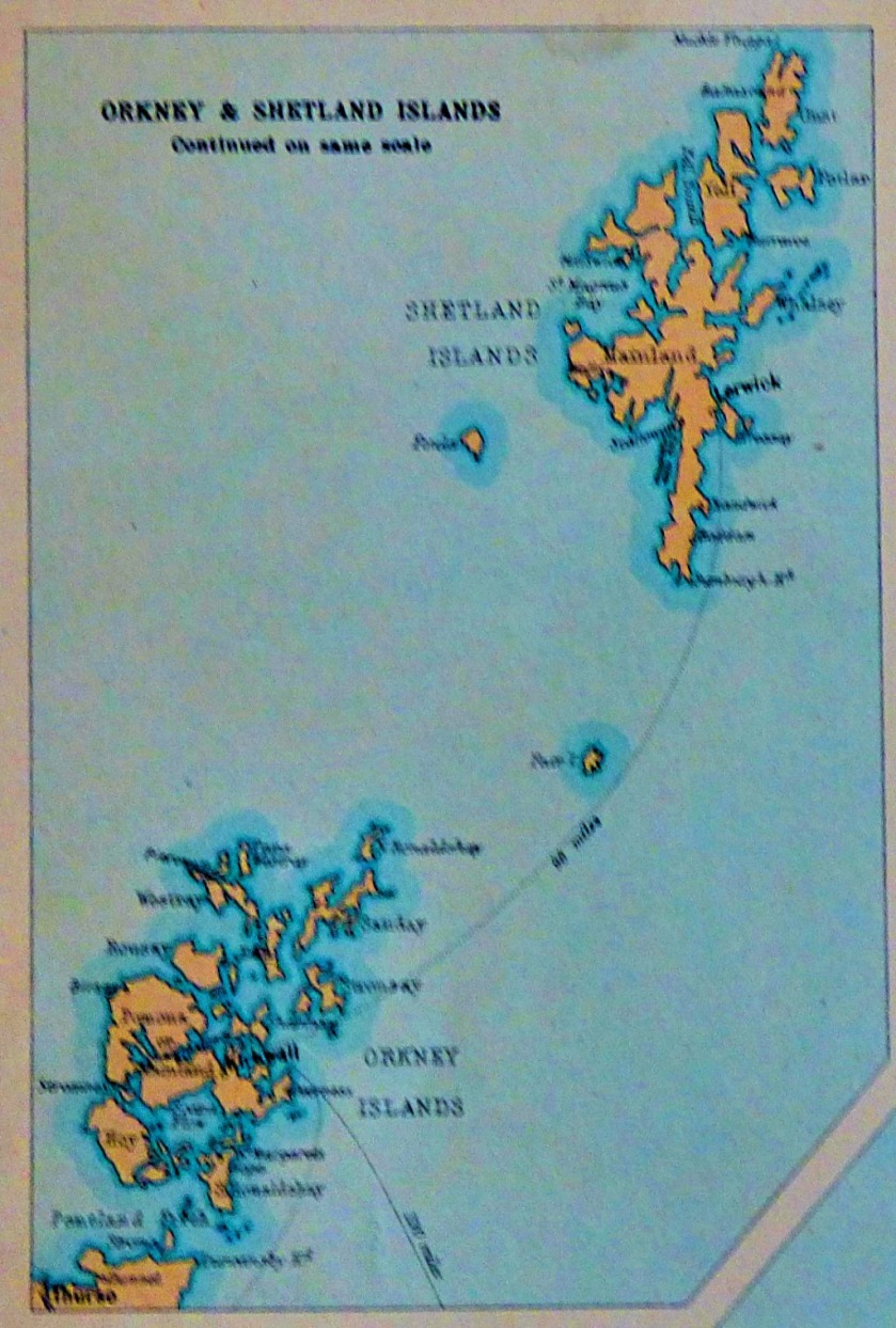 Orkney and Shetland islands