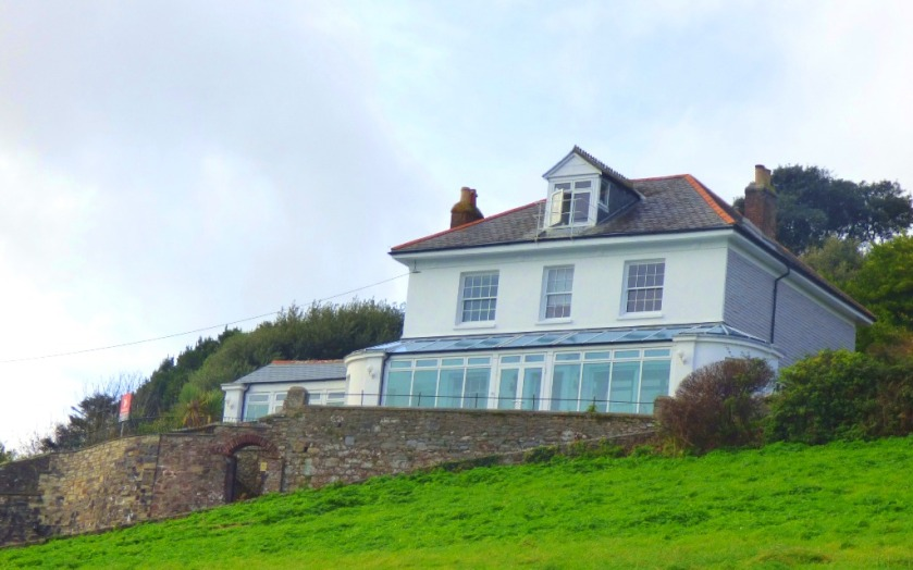 big house overlooking Kingsand