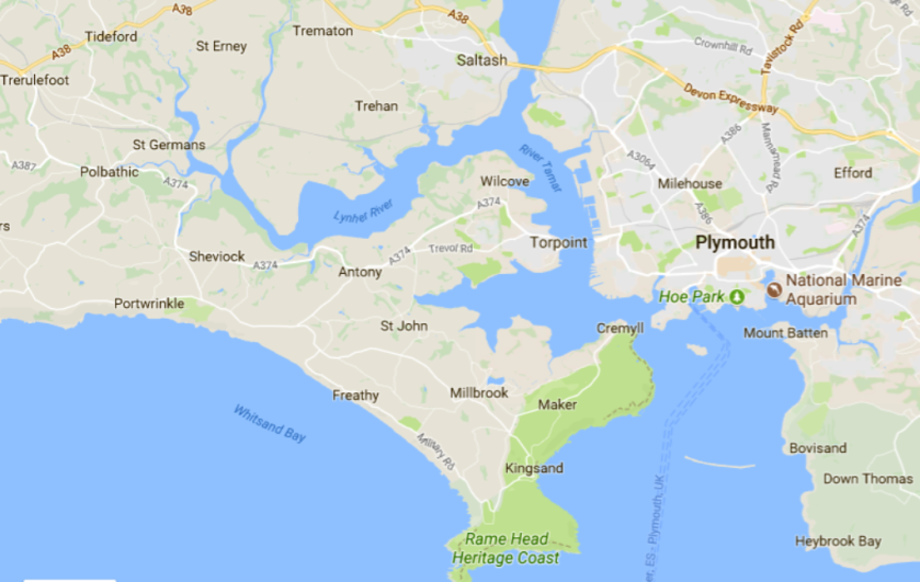 Kernow map