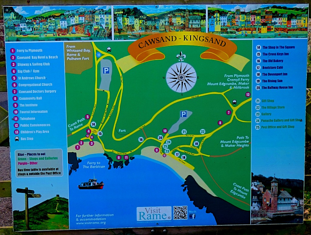 Kingsand and Cawsand map