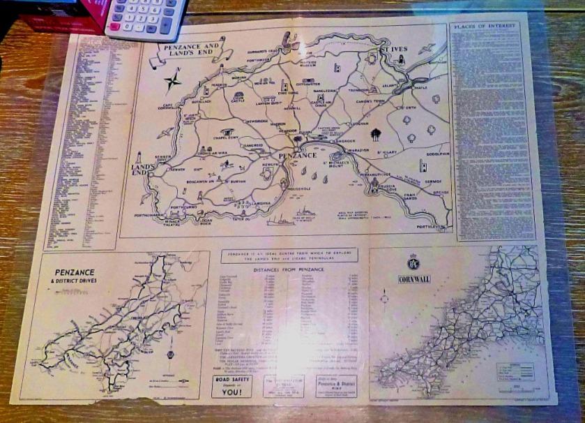 Map, Penzance Info Office