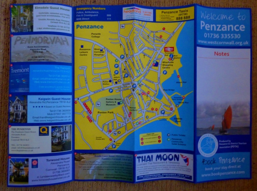 Penzance town map