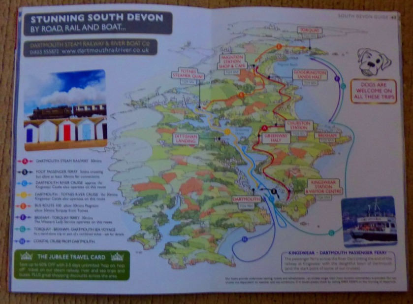 South Devon map