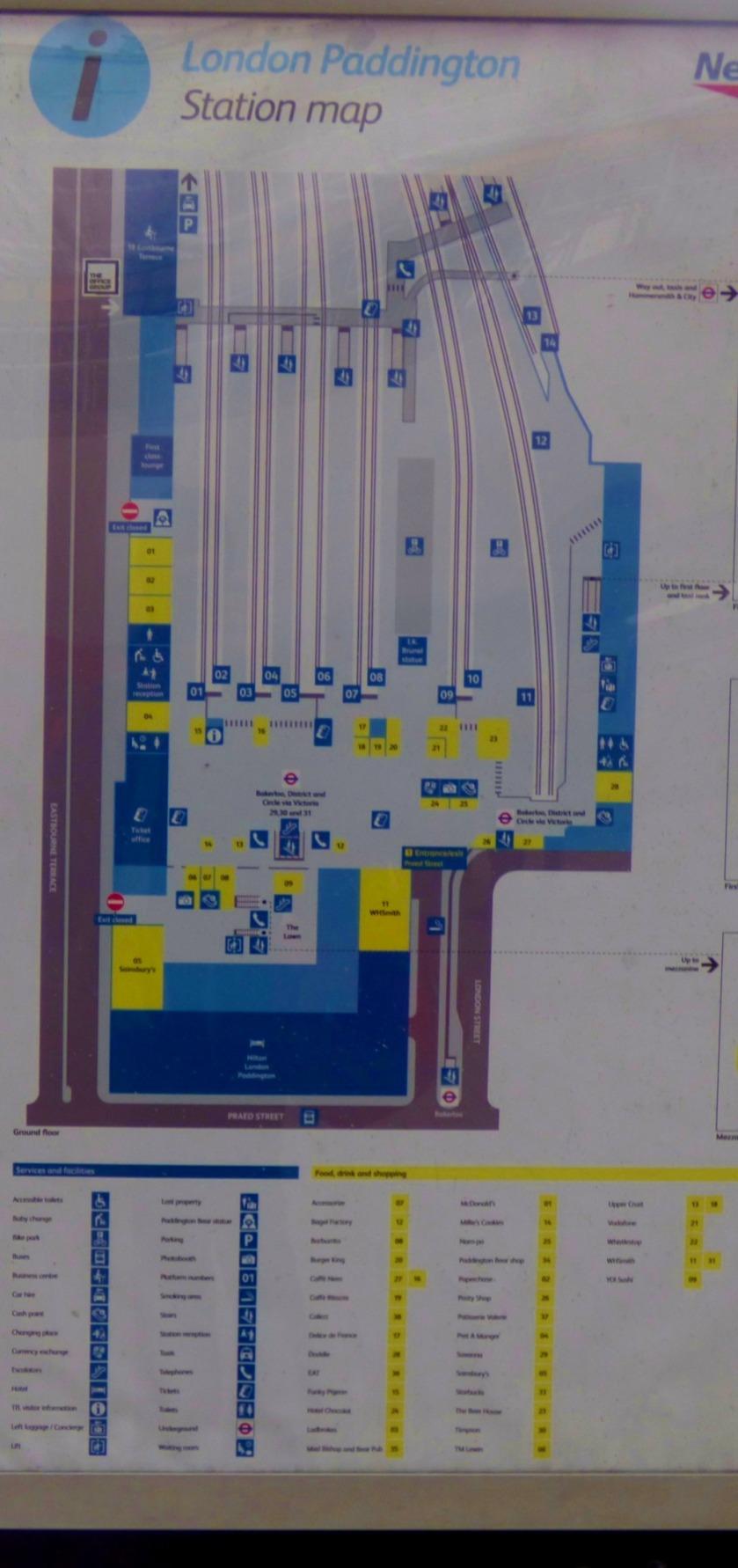Station plan, paddington