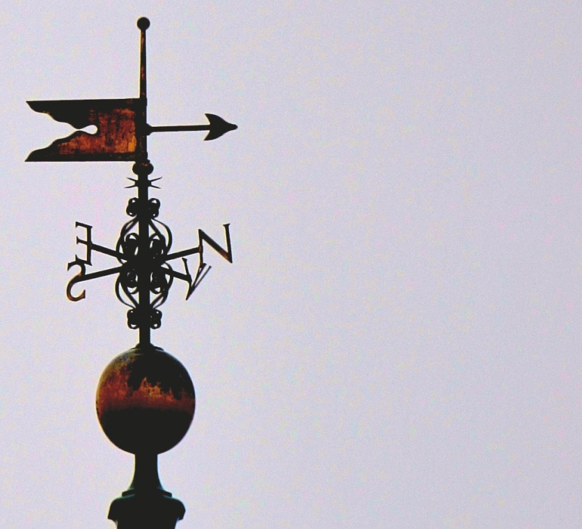 Weathervane and golden ball from OS Rymans