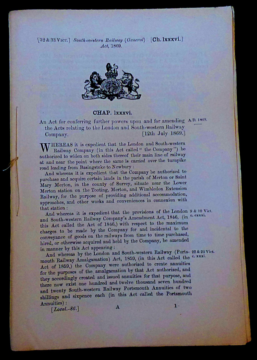 Acts of Parliament Relating to Railways