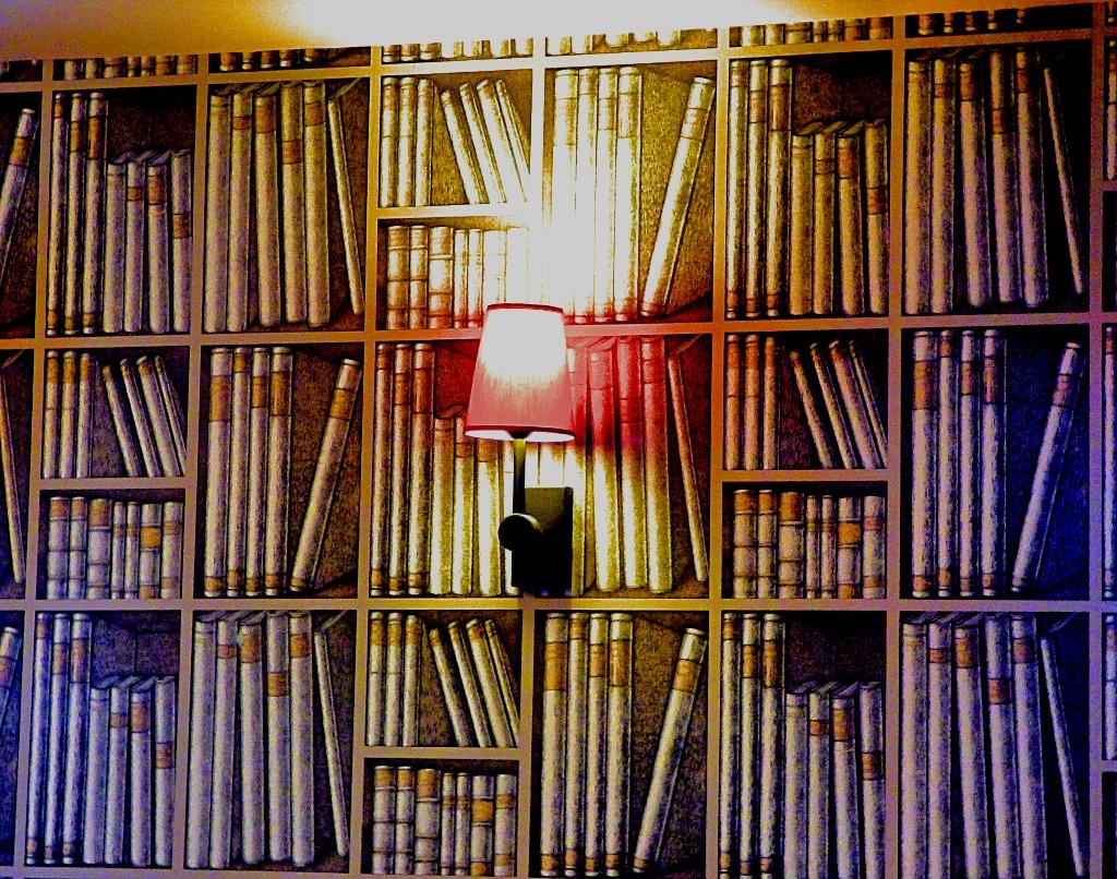 book like wall