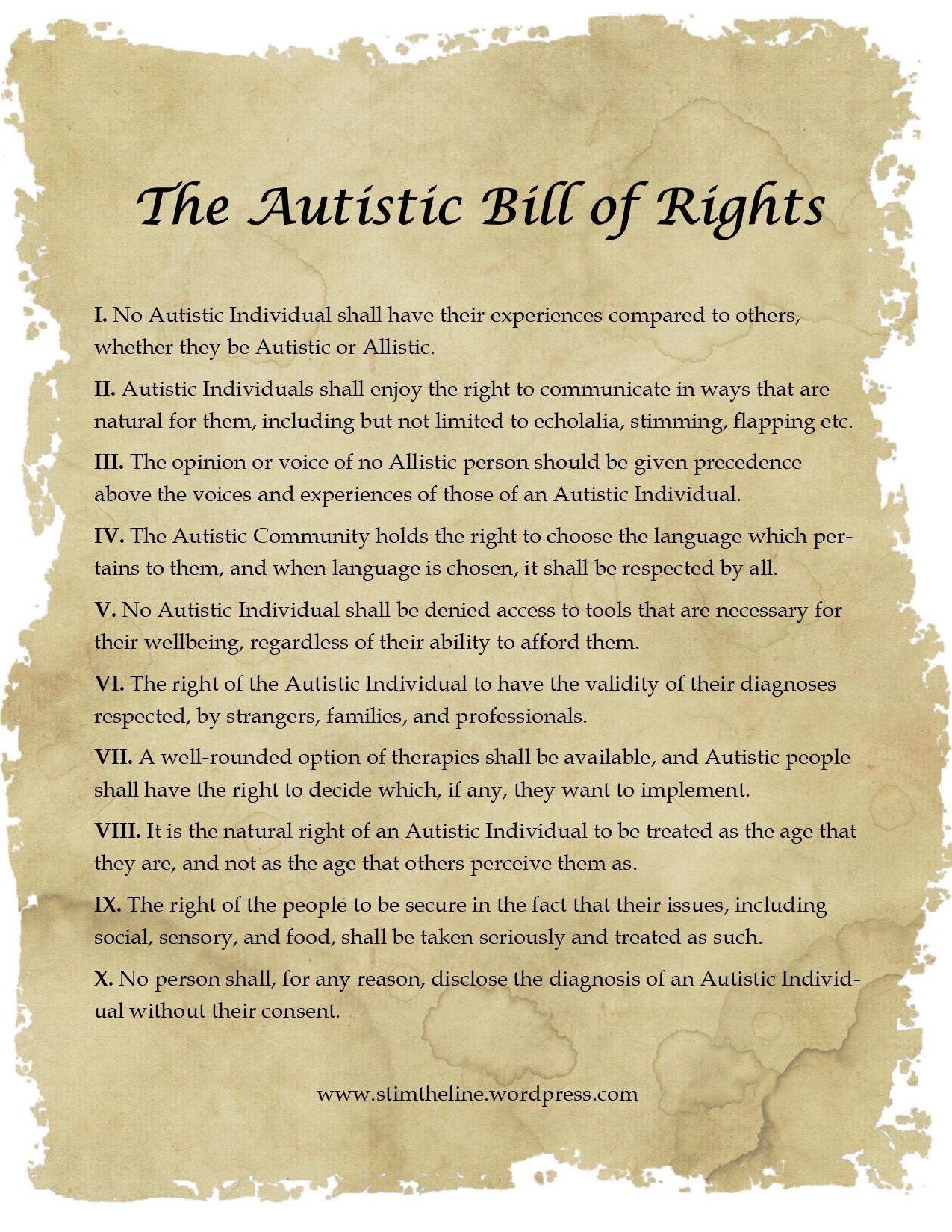 Autistic Bill of Rights.pub