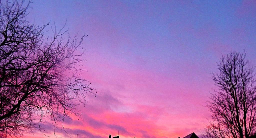 Sunset in Baker Lane Car Park