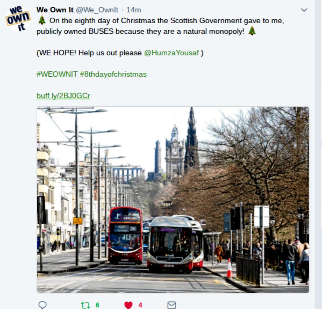 we own it buses tweet