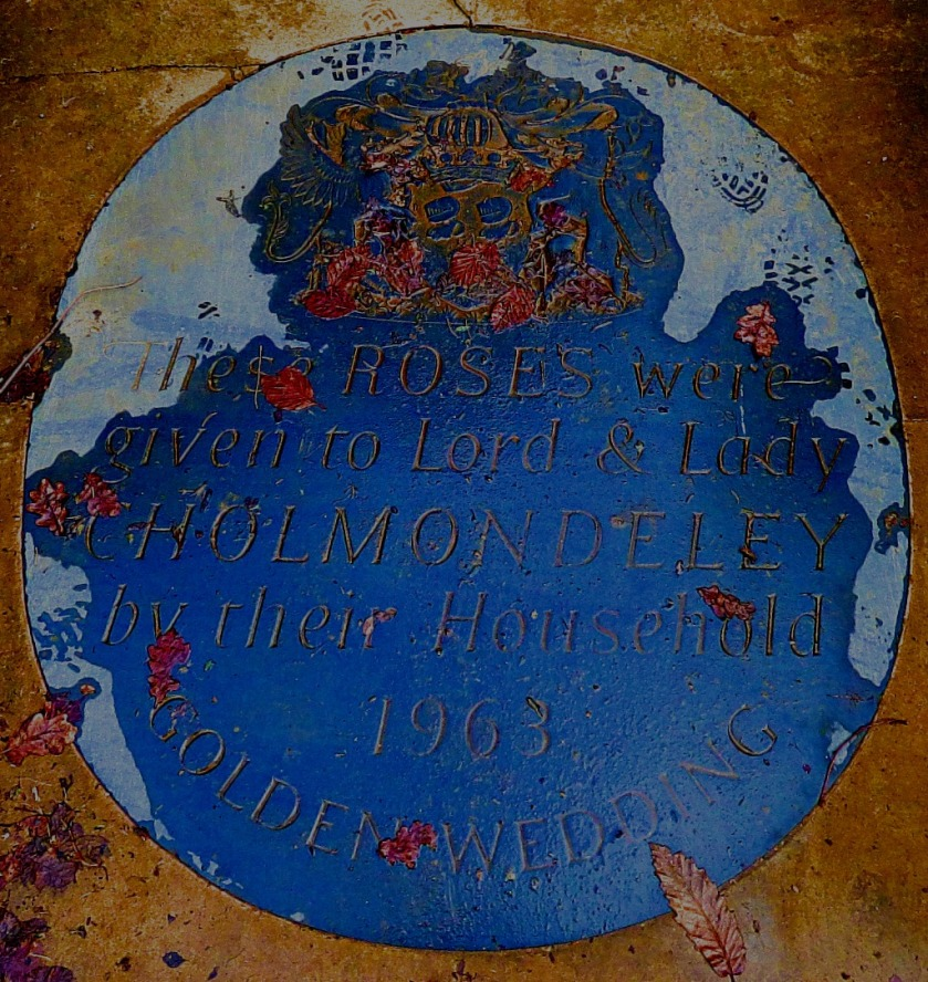 Floor plaque, rose garden