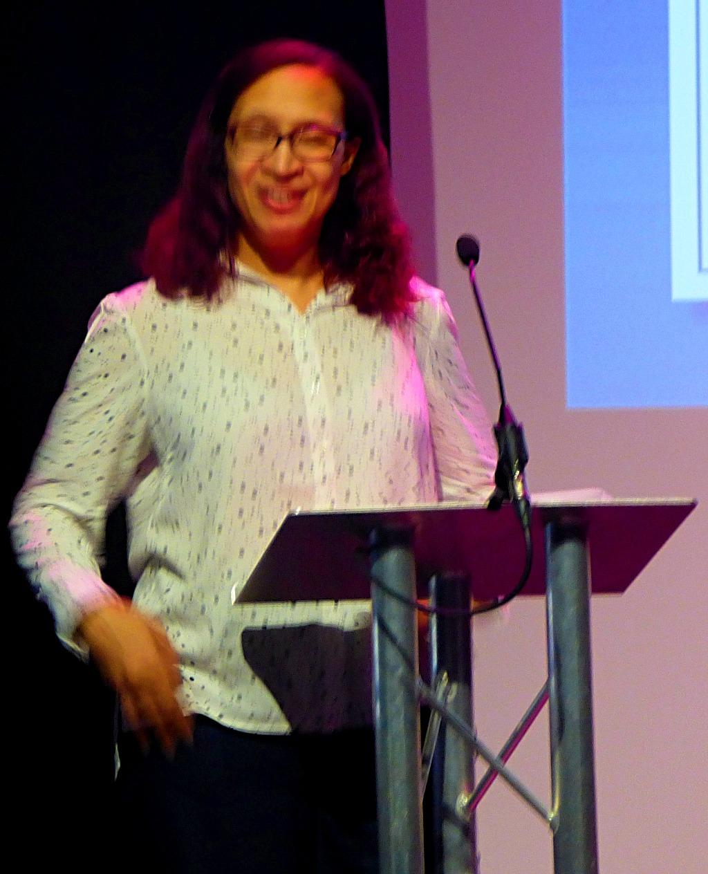 Amanda speaking