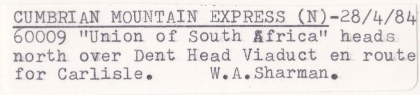 Dent Head Viaduct - Label