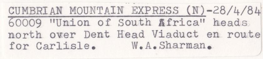 Dent Head Viaduct - Label